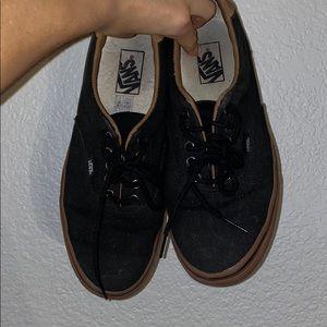 men's black and brown vans